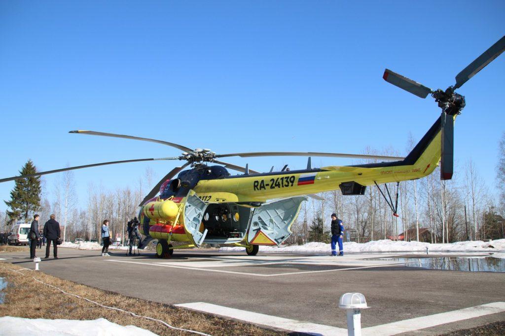 Новый вертолет санитарной авиации