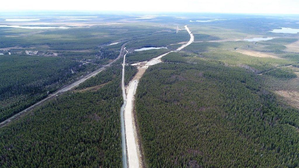 Дорога Тикша - Ледмозеро - Костомукша - граница с Финляндской республикой