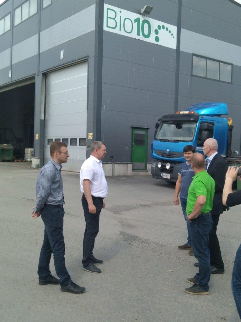Алексей Щепин на биогазовой станции в Финляндии